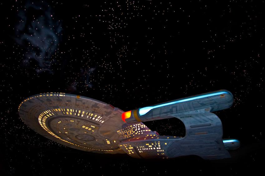 Model of the USS Enterprise starship from the Star Trek TV series